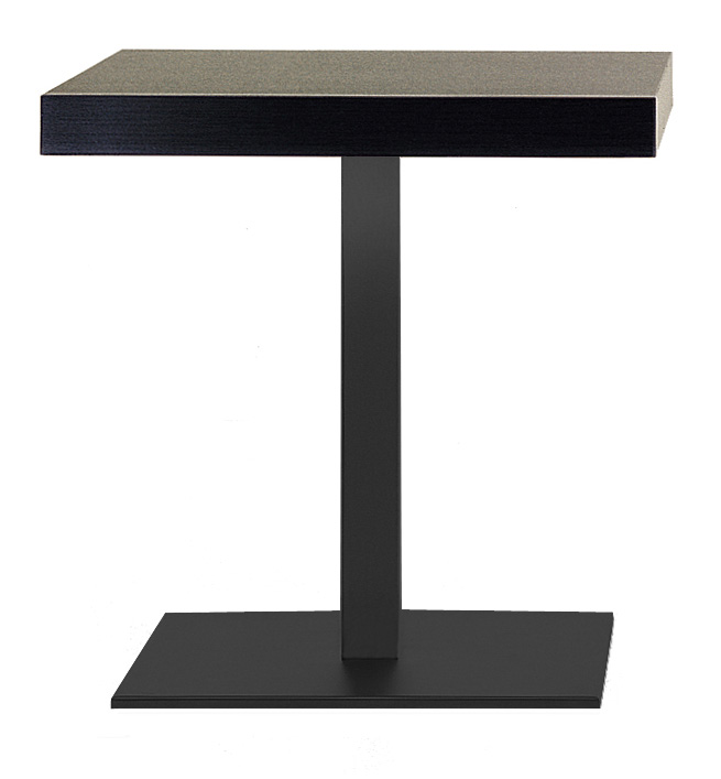pied de table noir inox pedrali. Black Bedroom Furniture Sets. Home Design Ideas