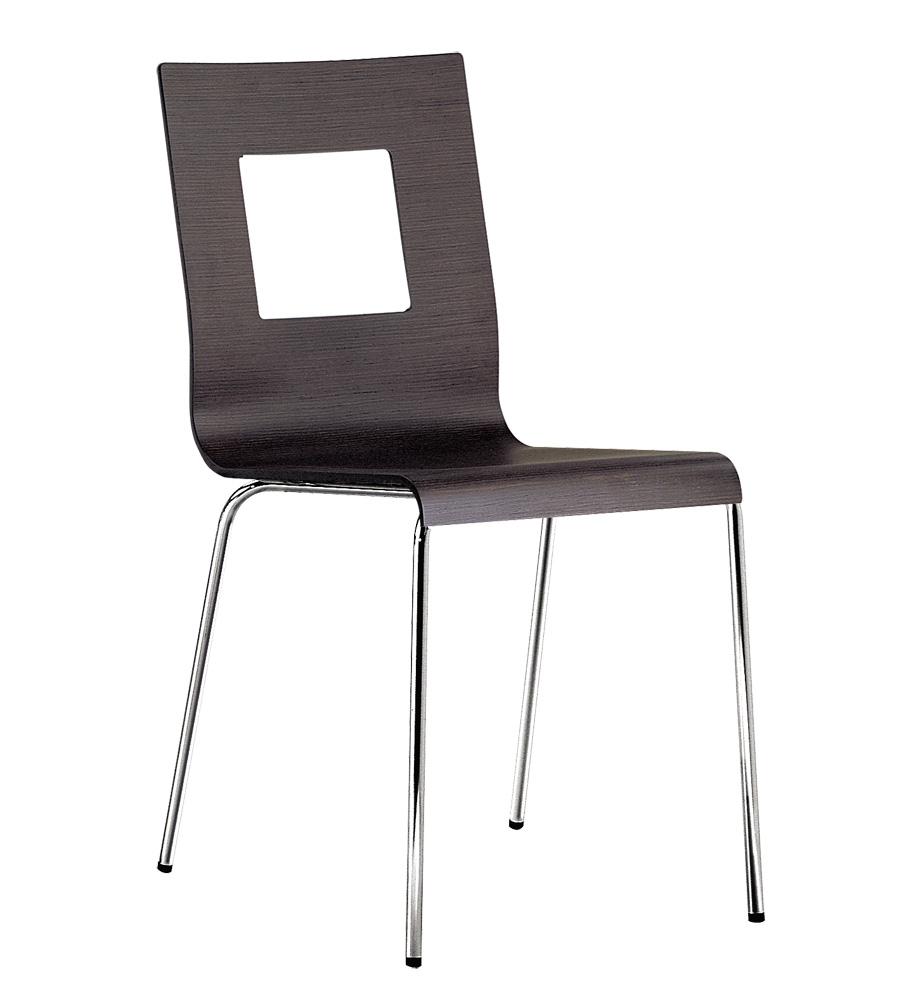 chaise empilable en bois dossier ajour kuadra pedrali. Black Bedroom Furniture Sets. Home Design Ideas