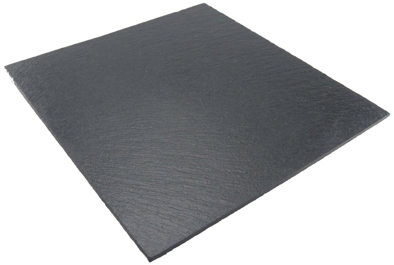 assiette plate carr e 25cm ardoise lebrun. Black Bedroom Furniture Sets. Home Design Ideas