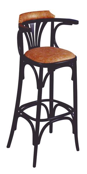 tabouret de bar assise et dos rembourr s bistrot. Black Bedroom Furniture Sets. Home Design Ideas