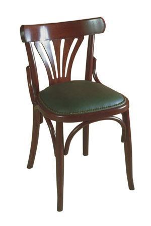 chaise bois assise rembourr e bistrot. Black Bedroom Furniture Sets. Home Design Ideas